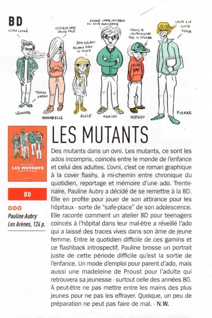 La presse parle des Mutants !